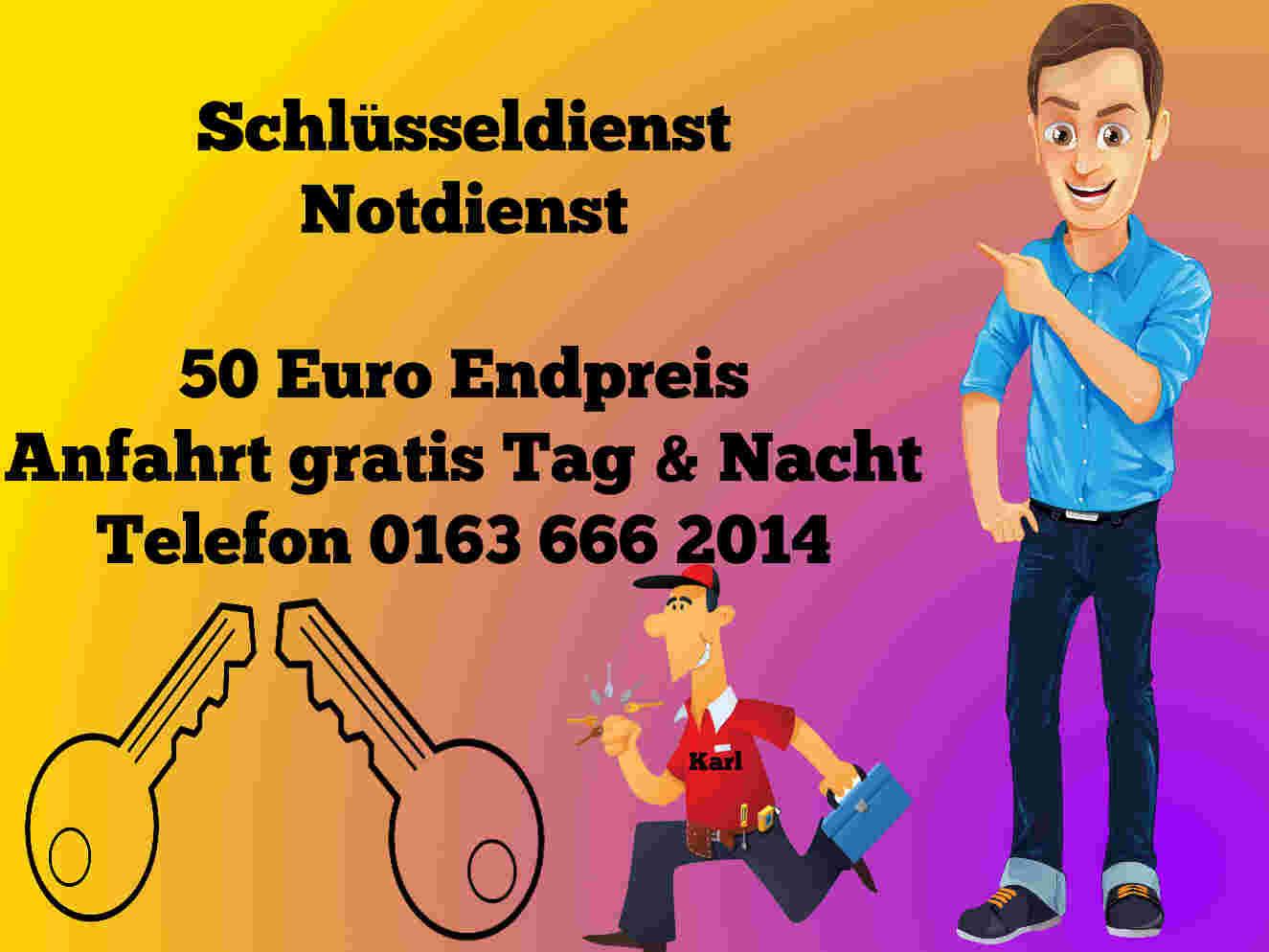 Schlüsseldienst Aachen Elsassstrasse mit 50 Euro Endpreis für Tür Öffnen Tag und Nacht